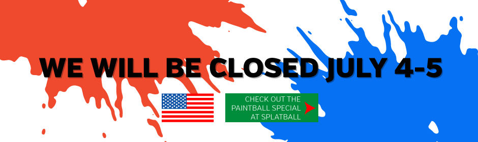Indoor paintball fun 4th of July weekend